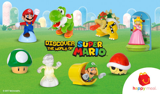 "McDonald's Happy Meals ""Power Up"" with Toys Based on Mario and Friends Through May 22nd"