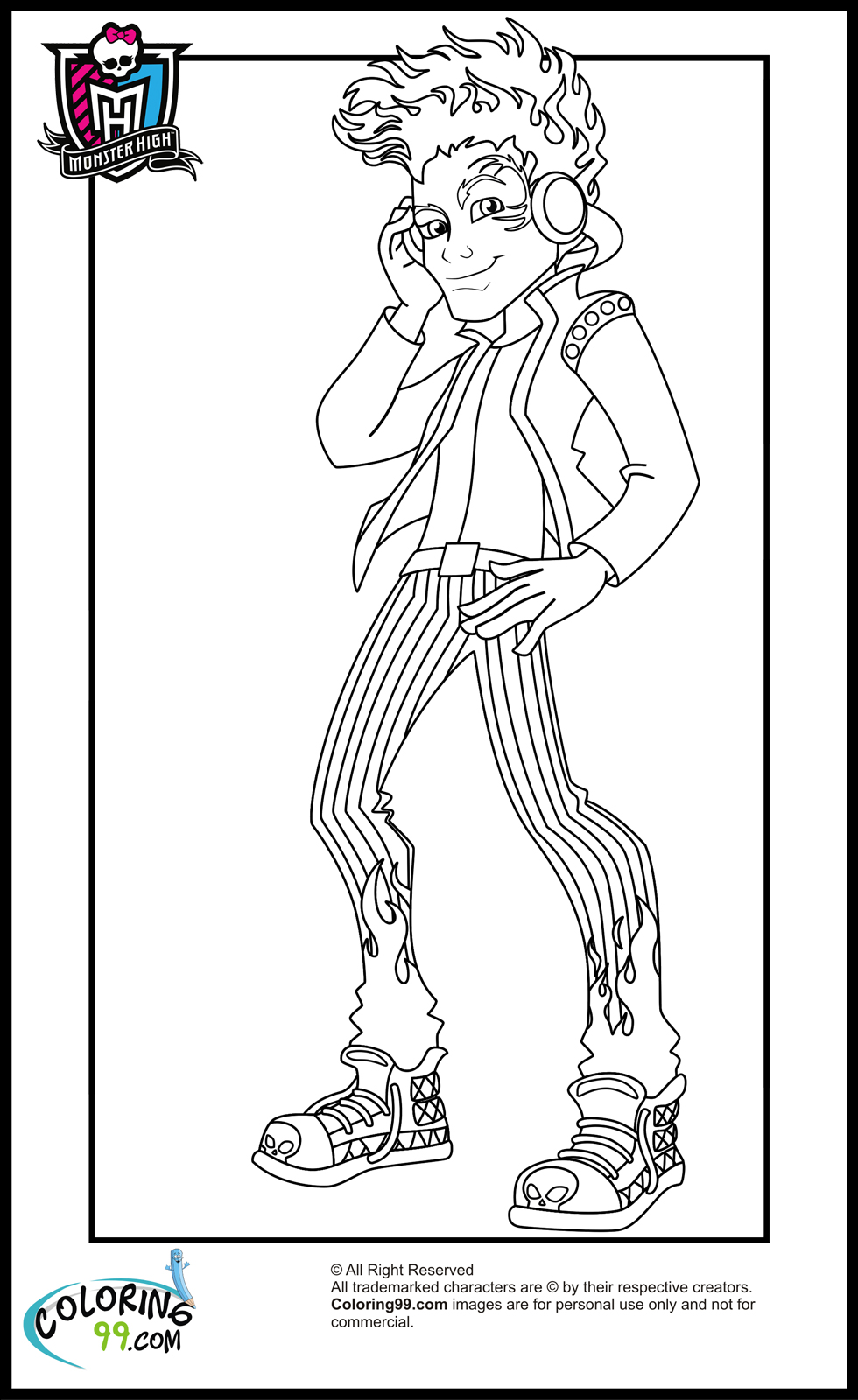 Boys coloring book pages ~ Monster High Boys Coloring Pages | Minister Coloring