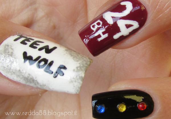 Teen Wolf nail art