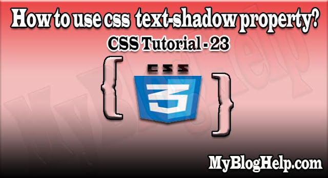css text shadow property