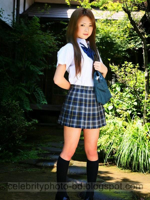 Photos of Beautiful Asian Models Posing In School Uniform As School Girls- Exclusive 2014