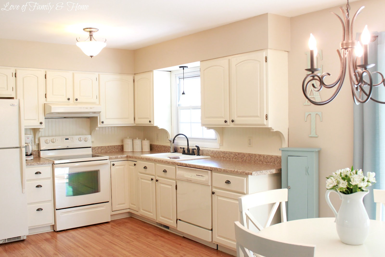 White Beadboard Kitchen Cabinets Beadboard Backsplash Corbel Love And A Few Other Kitchen