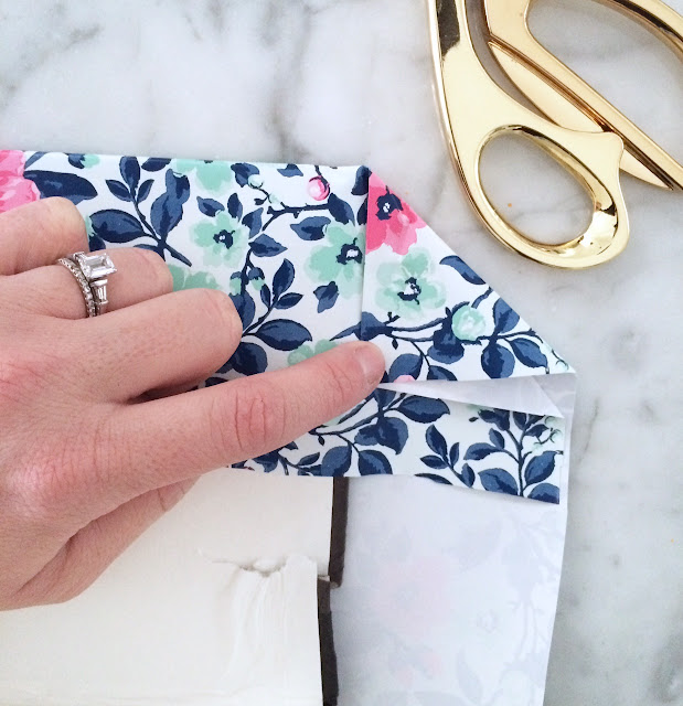 Diy Fashion Book Cover : Diy wrapping paper book cover harlow thistle home