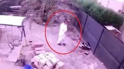 لقطة مروعة, لحظة ابتلاع الارض, رجل فى الكويت,