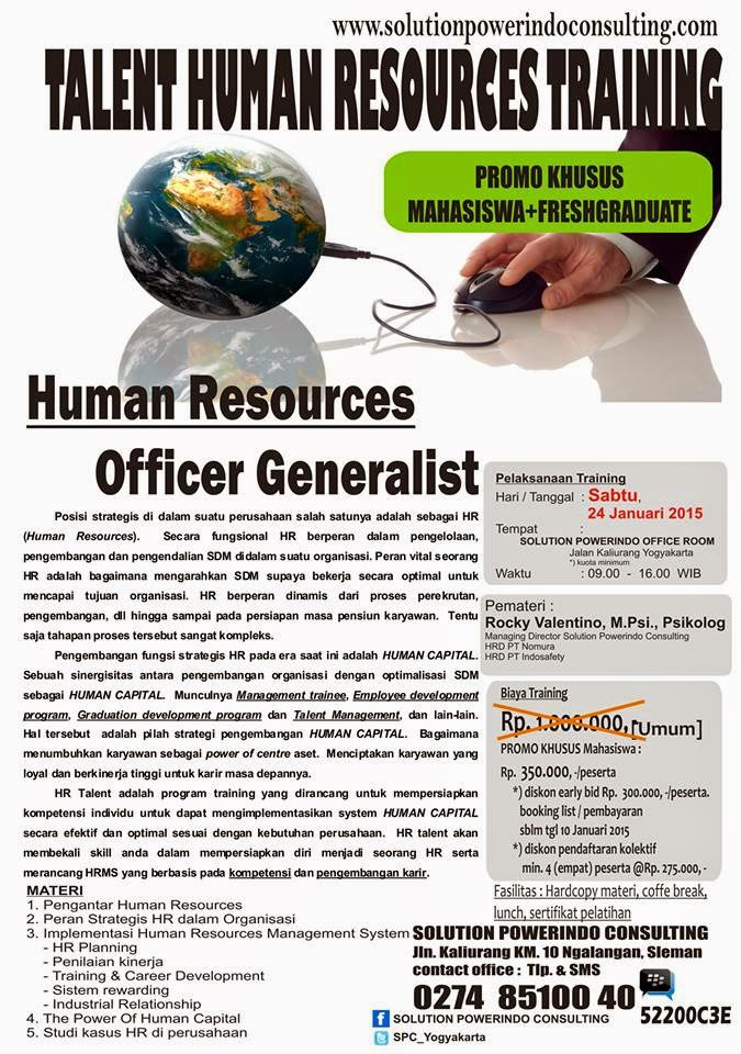 Training Human Resources Officer Generalist