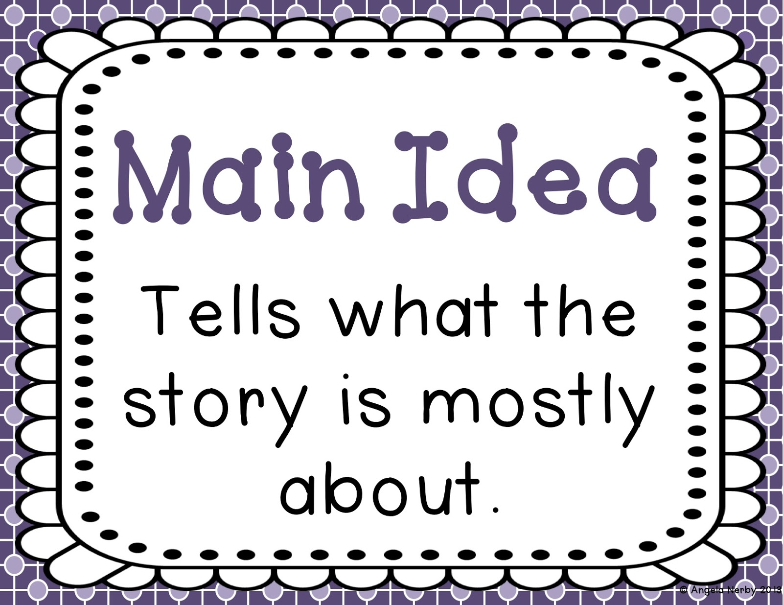 Main Idea Mania Freebie And Giveaway