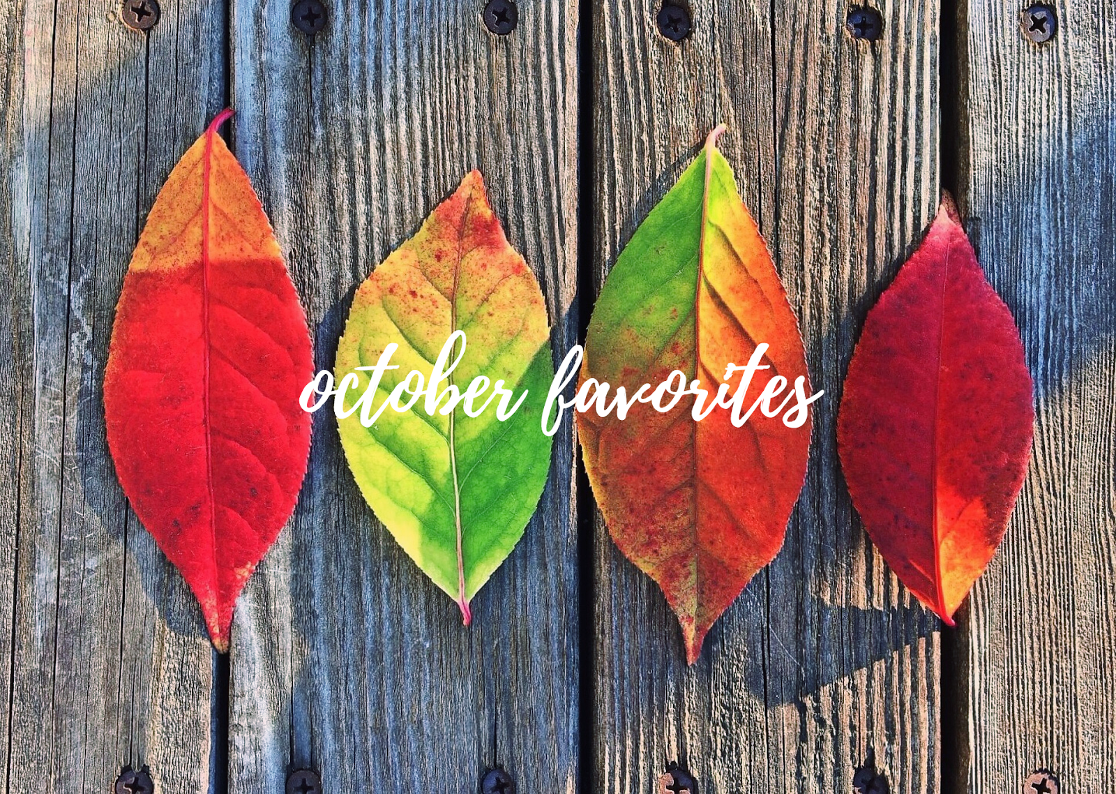 October Favorites: Beauty, Fashion, Fitness, Food