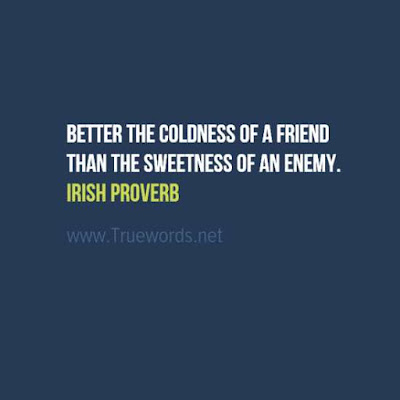 Better the coldness of a friend than the sweetness of an enemy.