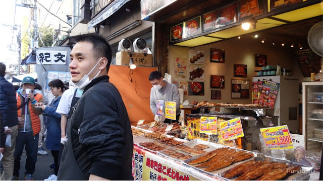 Penjual di Tsukiji Fish Market