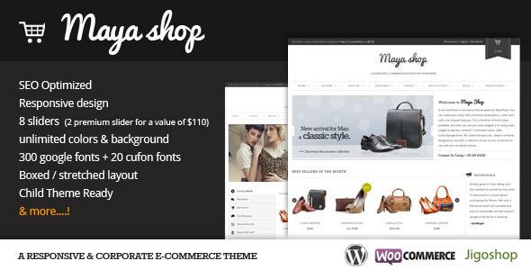 Free Download MayaShop A Flexible Responsive e-Commerce WordPress Theme
