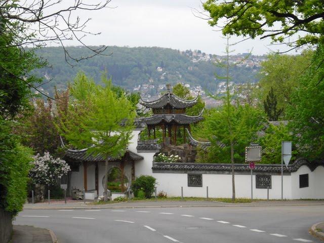 Wege In Der Region Stuttgart Aussicht Vom Chinesischen Garten Auf