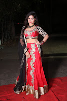 Sirisha Dasari in Red Ghagra Backless Choli ~  031.JPG
