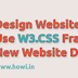 Design Website Layout Using W3.CSS Framework