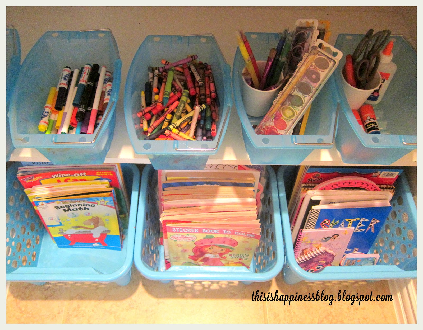 Popular this is happiness: organized kids' arts and crafts closet XB78