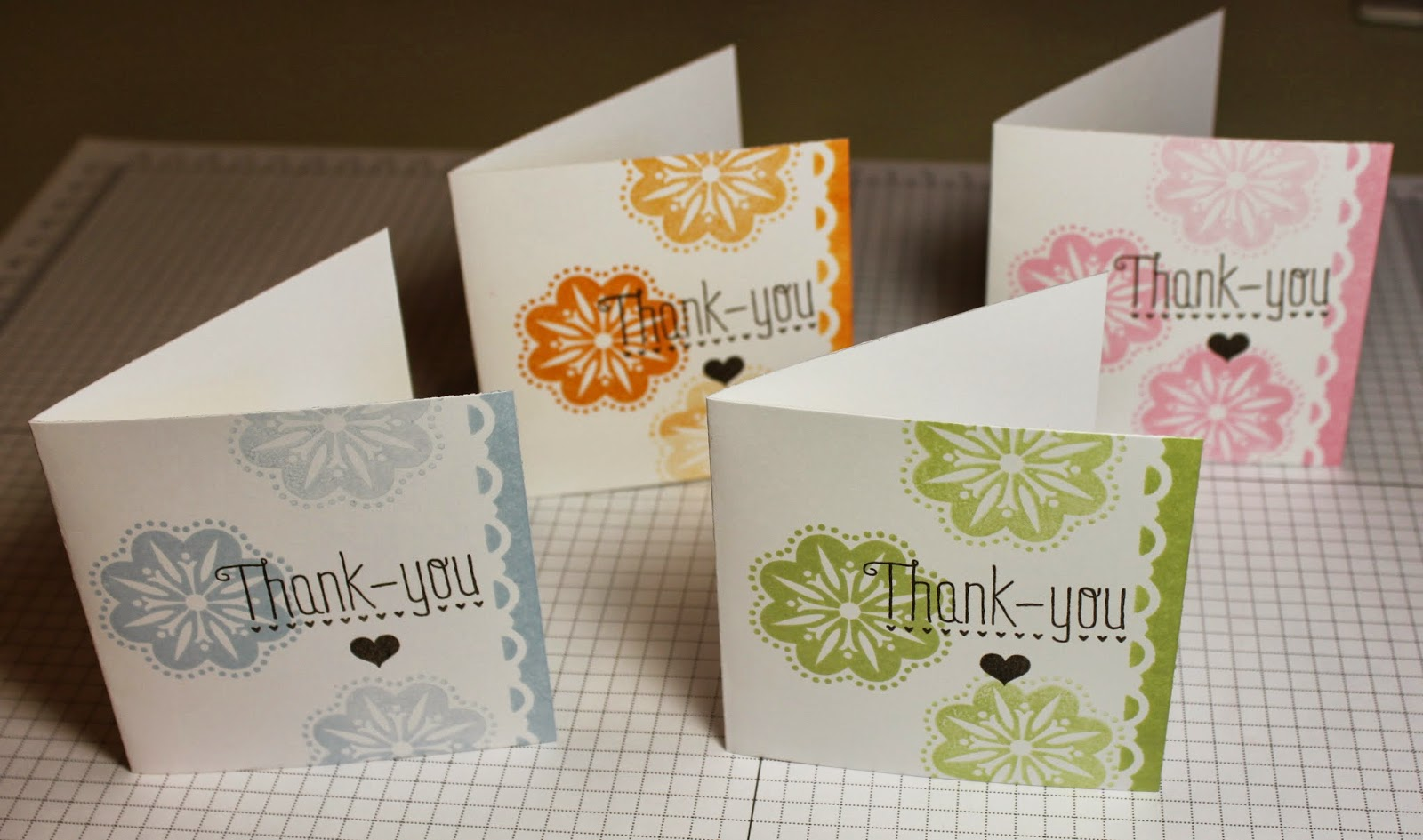 stacy's stampin' spot set of 3x3 thank you note cards