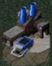 Refinería y cosechadora