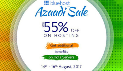Bluehost India Independence Day Sale - 55% Off