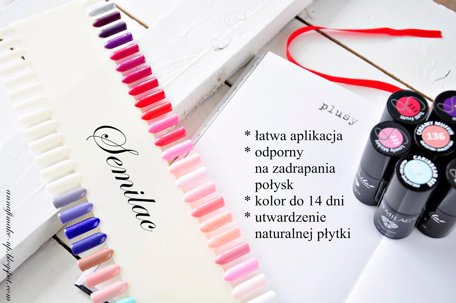 hybryda odporna na zadrapania, kolor do 14 dni, semilac, wzornik semilac,
