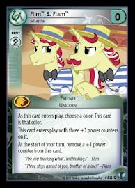 My Little Pony Flim & Flam, Shams Defenders of Equestria CCG Card