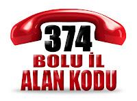 0374 Bolu telefon alan kodu