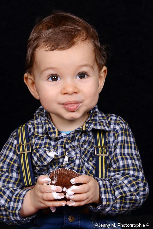 portrait enfant photo studio fond noir