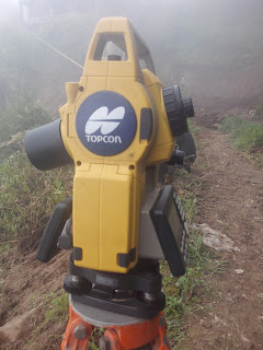 Topcon Totalstaion- Data input and layout using Coordinates( E-series Totalstation)