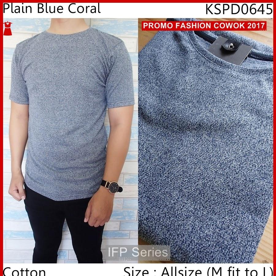 BIMFGP053 Blue Kaos Lengan Pendek Pria PROMO