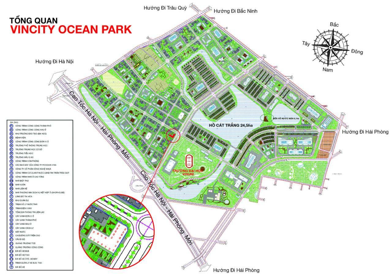 Vị trí tòa P12 - VinCity Ocean Park