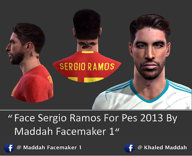 PES 2013 Sergio Ramos Face