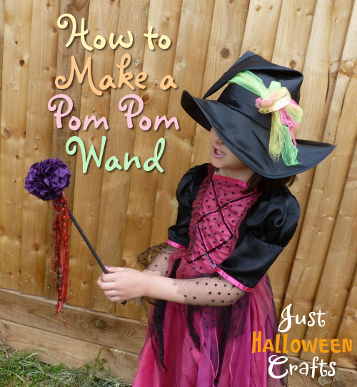 DIY craft for making a pom pom style wand