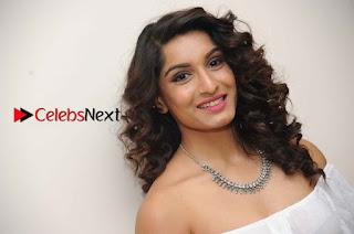 Kannada Model Actress Krishi Thapanda Stills in Ripped Jeans at Eradu Kanasu Movie Press Meet  0015.jpg