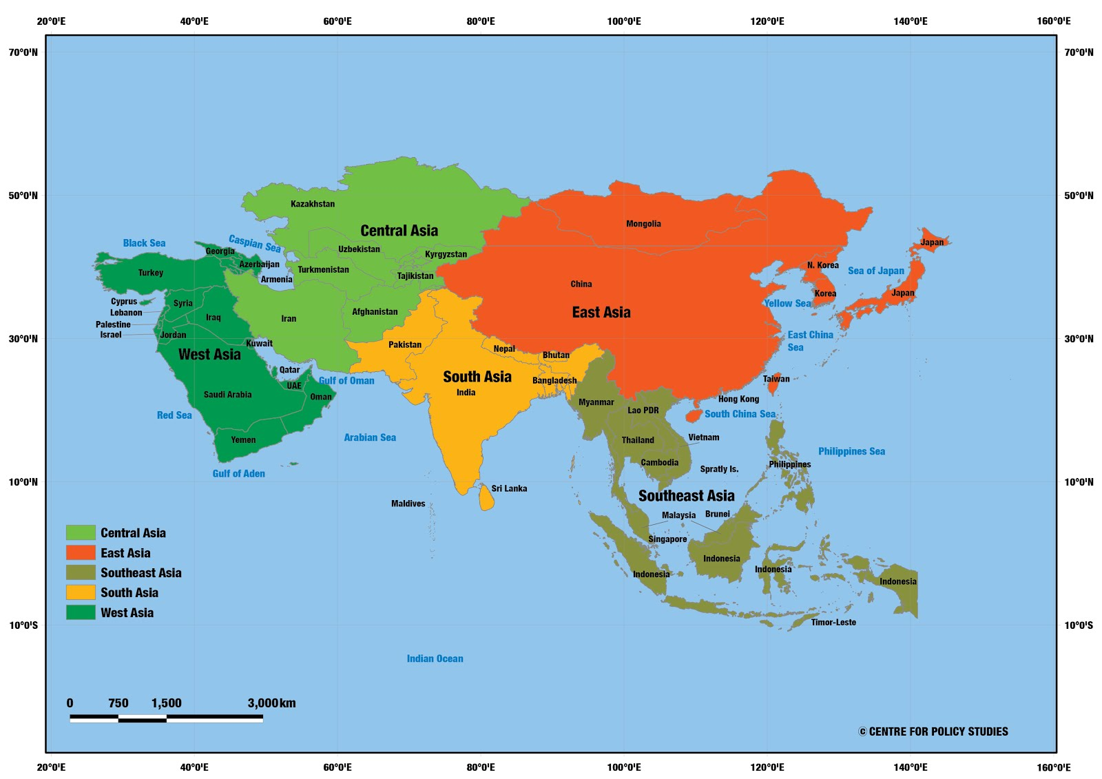 Religious Map Of Asia.Centre For Policy Studies Religion Data Of Census 2011 Xliii Asia
