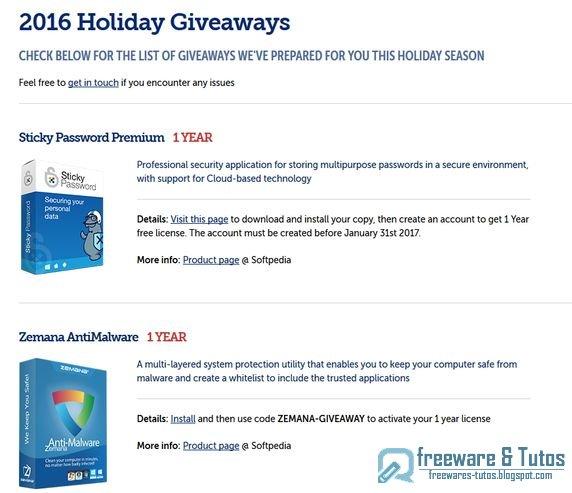 Offre promotionnelle : 10 logiciels commerciaux gratuits pour Noël !