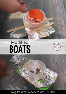 STEM Challenge: This is a modified boat challenge for first graders. They loved it a lot! Check this blog post!