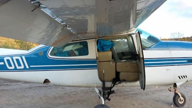 Polícia apreende avião carregado com cocaína em Camocim