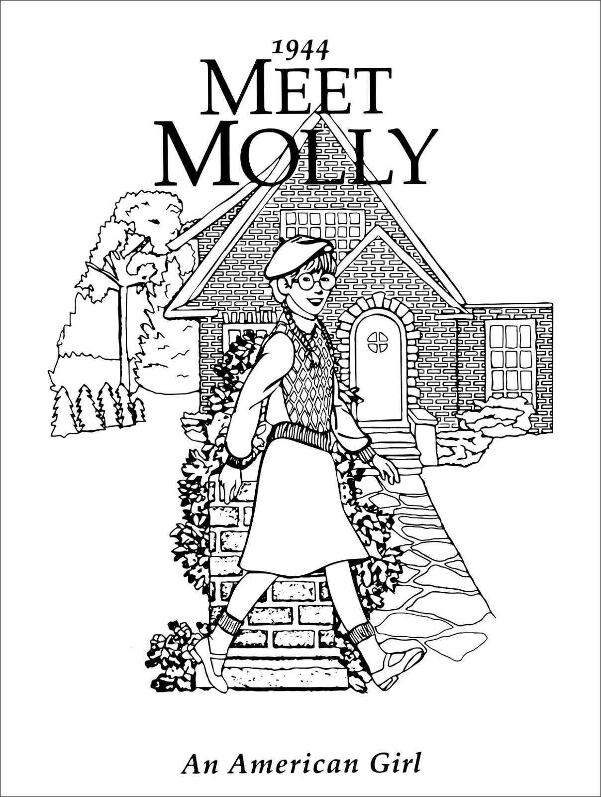 Molly American Girl Pages Coloring Pages