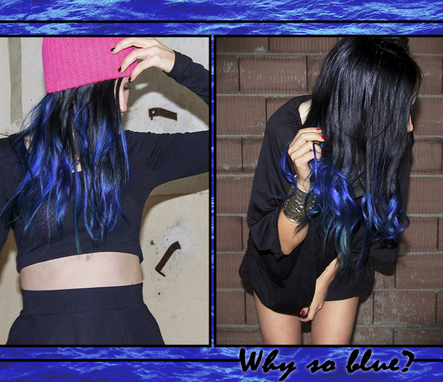 For Peet's Sake blog black and blue ombre hair La Riche Directions Atlantic Blue