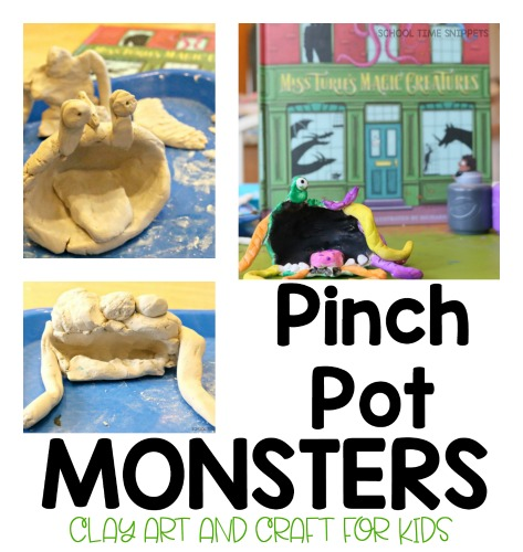 Pinch Pot Monsters Clay Project
