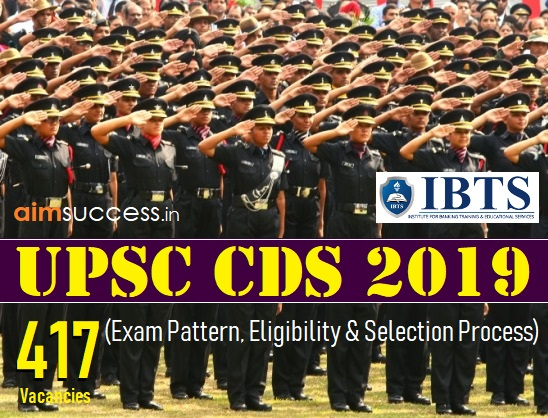 UPSC CDS Recruitment 2019 - 417 Vacancies (Exam Pattern, Eligibility & Selection Process)