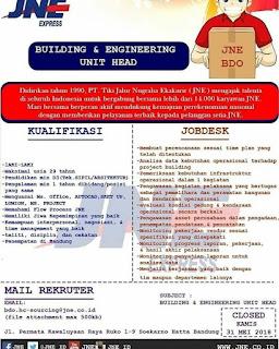 Karir Lowongan Kerja JNE Bandung Terbaru 2019 berikut Cara Melamar