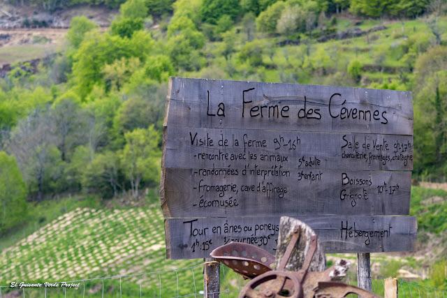 Cartel de La Ferme des Cévennes - Florac, Lozère (Francia) por El Guisante Verde Project
