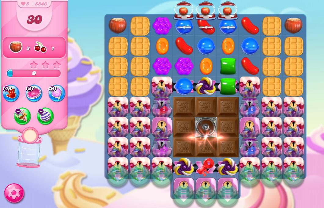 Candy Crush Saga level 5846