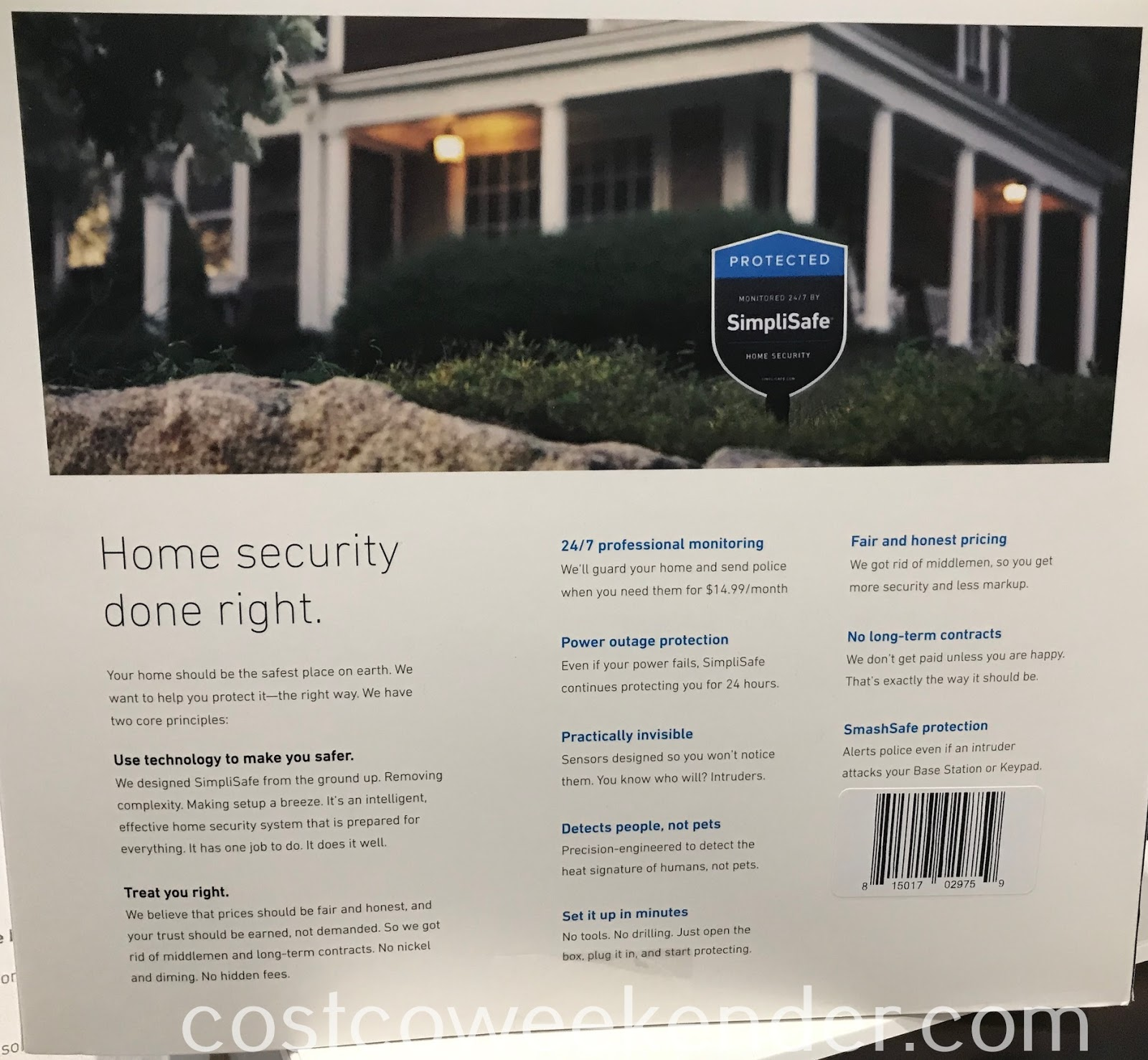 Costco 1364670 - Ward off would be intruders with the SimpliSafe Home Security System