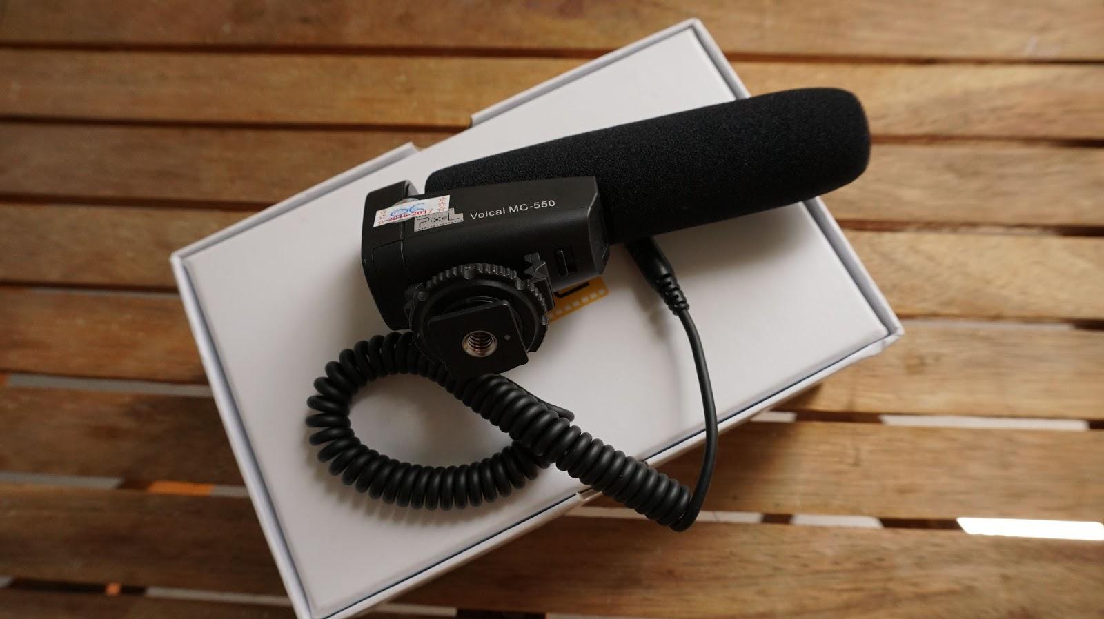 Micro thu âm PIXEL Voical MC 550 cho máy quay, máy ảnh DSLR gọn nhẹ, dễ sử dụng