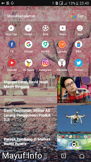 Cara Mengganti Background/Tema UC Browser Terbaru