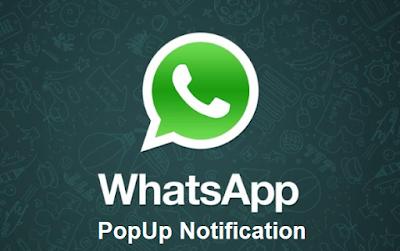 Pengertian Notifikasi Popup Pada WhatsApp dan Pengaturannya