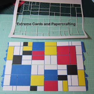 Mondrian tri-shutter card ready to glue