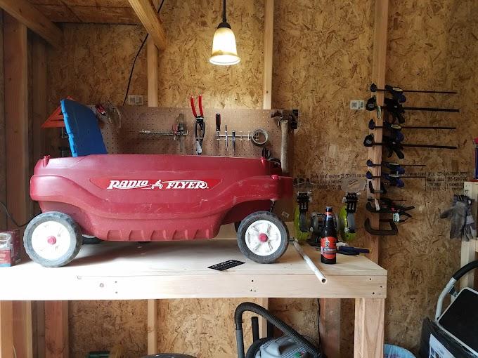 Radio Flyer Wagon Wheel Upgrade