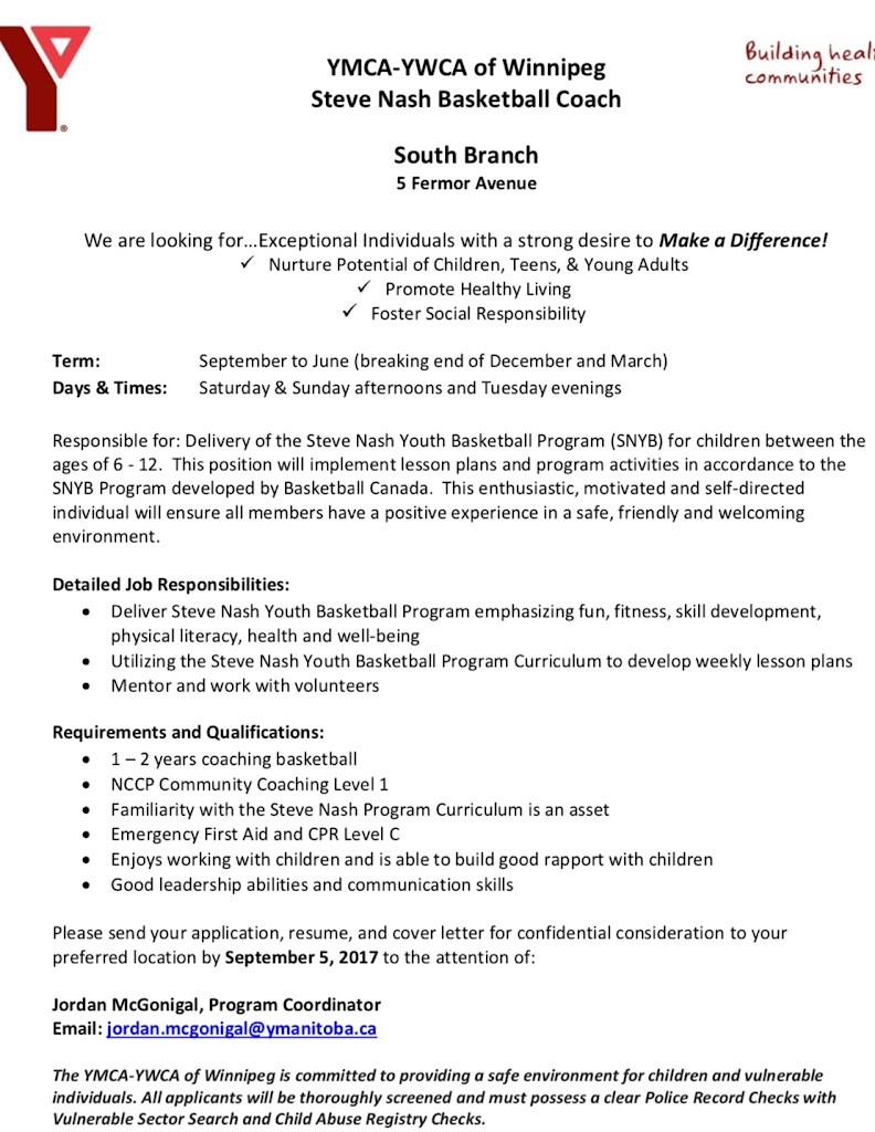 Coaching opportunity south winnipeg y steve nash coach ymca ywca of winnipeg steve nash basketball coach south branch 5 fermor avenue madrichimfo Image collections