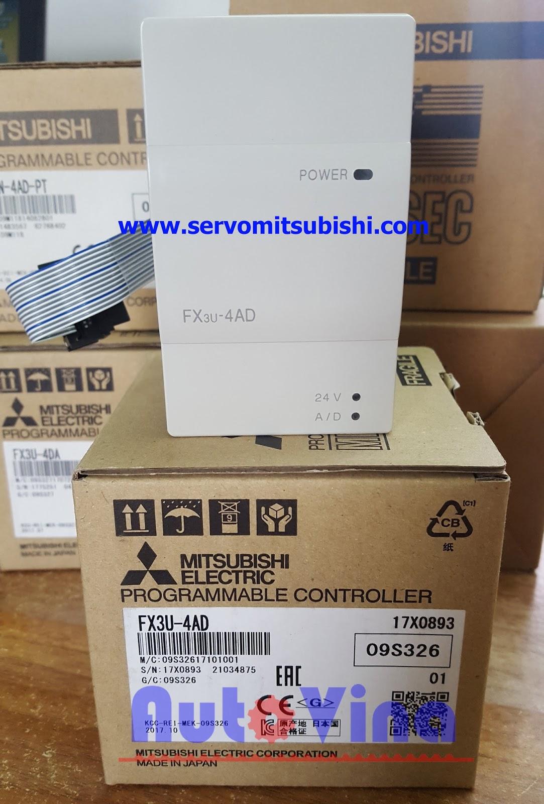 Module analog PLC Mitsubishi hàng mới new 100% Full box Module PLC Mitsubishi FX3U-4AD
